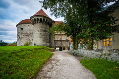 Historic city walls and buildings in the Old Town,  Tallinn, Est Royalty Free Stock Photography