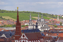 Historic City of Wuerzburg Royalty Free Stock Photography