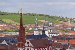 Historic City of Wuerzburg Royalty Free Stock Photography