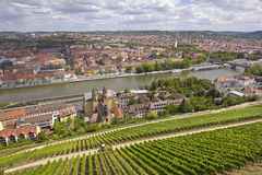 Historic City of Wuerzburg Stock Image
