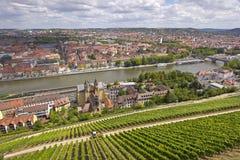 Historic City of Wuerzburg Stock Image