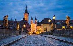 Historic city of Wurzburg, Bavaria, Germany Royalty Free Stock Photography