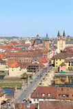 Historic city of Wurzburg with bridge Alte Mainbrucke, Germany Royalty Free Stock Photography