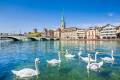 Historic city of Zurich with river Limmat, Switzerland Stock Photography