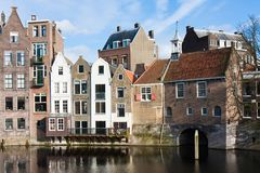 Historic cityscape in the Netherlands Royalty Free Stock Images