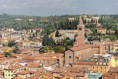 Historic cityscape of Verona. View of the old town of Verona in Italy Royalty Free Stock Photography