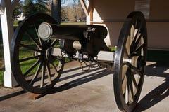 Civil War Cannon Steilacoom Washington. Historic Civil War Cannon at U.S. Army Fort Nisqually museum in Steilacoom, Washington royalty free stock images
