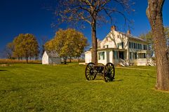 Historic Civil War Homestead. The Mumma's farm, a historic homestead that sits in the middle of the Battle of Antietam, a major battlefield of the American Civil stock photography