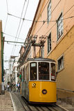 Historic classic yellow tram of Lisbon Royalty Free Stock Photos