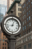 Historic clock of the 5th avenue (NYC) Royalty Free Stock Images