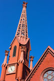 A historic clock tower of Calvary Baptist Church, Washington DC. Stock Photo