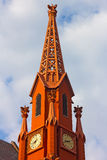 A historic clock tower of Calvary Baptist Church, Washington DC. Royalty Free Stock Images