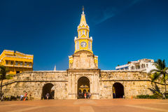 Historic clock tower gate and entrance to the old Royalty Free Stock Image