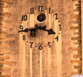 Historic clock tower showing the exact time, Jihlava, Europe. The Historic clock tower showing the exact time, Jihlava, Europe royalty free stock photos