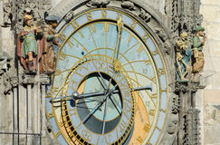 Historic clockwork in Prague Stock Image