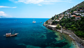 Historic coast in Alanya Turkey Royalty Free Stock Photo