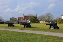 Historic Coastal Guns, Southwold, Suffolk, UK Royalty Free Stock Image