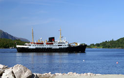 Historic coastal steamer. On his way in the north of Norway Stock Photography