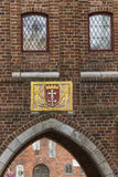 The historic coat of arms on the building Royalty Free Stock Photos