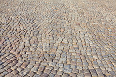 The historic, cobbled road - Gdansk, Poland Stock Photography