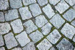 Historic cobbled stone path Royalty Free Stock Photography