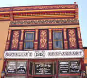 Historic Colorado. This colorful decorative Victorian building on Notorious Blair Street was once a bordello and saloon in the historic wild west mining town of Stock Image
