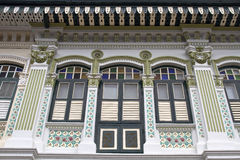 Historic Colorful Peranakan House 5 Stock Photo