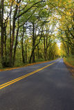 Historic Columbia River Highway in Fall Stock Images