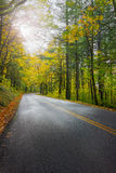 Historic Columbia River Highway in Fall Stock Photo