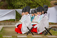 Historic Coming-of-Age Event Women Sitting Royalty Free Stock Photos