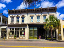 Historic commercial building on Kings Street in Charleston, South Carolina Royalty Free Stock Images