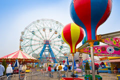 Historic Coney Island Amusements Stock Photo