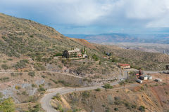Historic copper mine. Looking down on a historic copper mining operation, Jerome, Arizona Stock Image