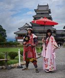 Historic cosplay at Matsumoto castle, Japan, August 2017. Famous Matsumoto castle, part of the UNESCO World Heritage, Japan, August 2017 Stock Images