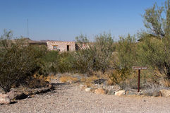 Historic Costolon Structure. Historic Buildings in Costolon, Big Bend National Park, Texas Stock Image