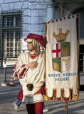 Historic costumes in parade Royalty Free Stock Image
