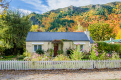 Historic cottage with beautiful garden in Arrowtown, New Zealand Royalty Free Stock Images