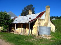 Historic cottage in Hartley NSW, Australia stock photography