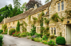 Historic cottages in Castle Combe Royalty Free Stock Photo