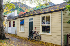 Historic cottages in historic town of Arrowtown, New Zealand. stock photos