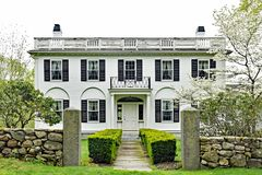Historic Country House with Unique Architectural Details royalty free stock photography