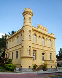 Historic court house and jail. In the city of ilhabela in brazil stock photography