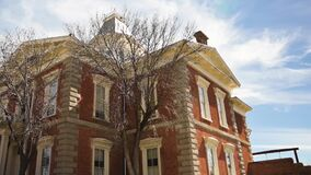 Historic courthouse in Tombstone, Arizona, low angle shot