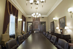 Historic Courtroom Conference Room Royalty Free Stock Photos