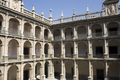 Historic courtyard of spanish university Royalty Free Stock Images