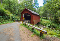 Historic Covered Bridge. Historic North Fork Yachats Covered Bridge In Lane County, Oregon Royalty Free Stock Photography