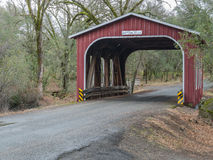 Historic covered bridge in Northern California Stock Image