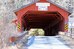 Historic covered bridge. One of the few remaining burr truss covered bridges built by Sadler S. Rogers in the 1850's Royalty Free Stock Images