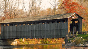 Historic Covered Bridge. A photograph of an historic covered bridge in central Michigan Stock Images
