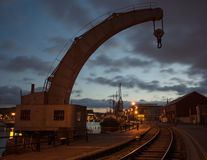 Historic Crane at Bristol Dockyard, England Stock Images